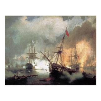 Sea fight of navuarino postcard