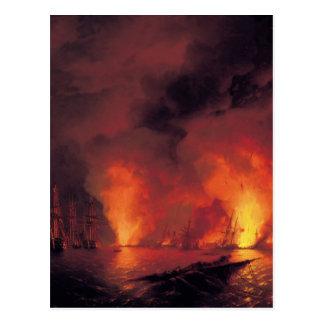 Sea fight of shinopu postcard