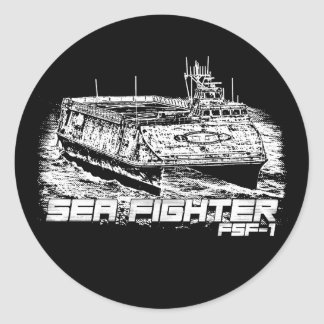 Sea Fighter Classic Round Sticker