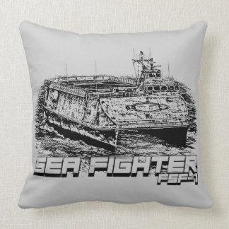 Sea Fighter Grade A Cotton Throw Pillow 20x20