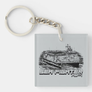 Sea Fighter Square (double-sided) Keychain