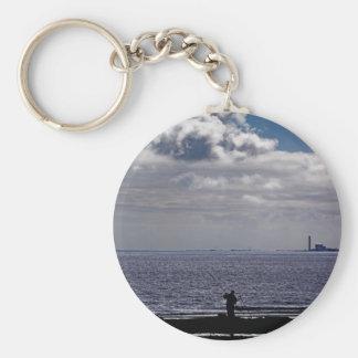 Sea Fishing at Druridge Bay Keychain