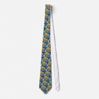 sea floor flower rock neck tie