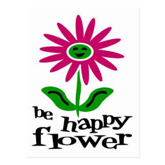 Sea flor feliz postal