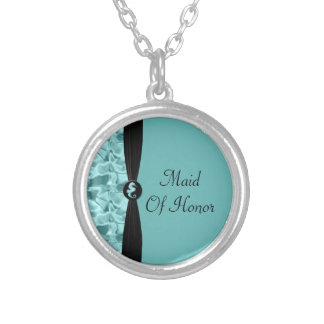 Sea Foam Beach Seahorse Elegant Wedding Silver Plated Necklace