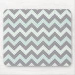sea foam blue zig zag pattern mouse pad