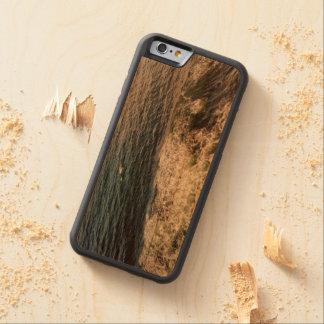 Sea Foam Carved Wood Phone Case