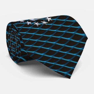 Sea Foam Chrome Yacht Flag Automotive Grille Print Neck Tie