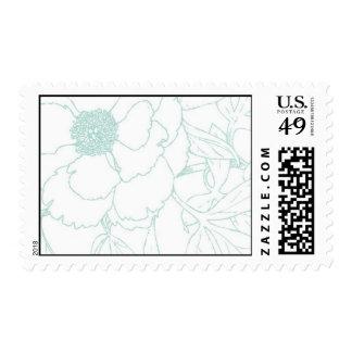Sea Foam Flowers Postage Stamp