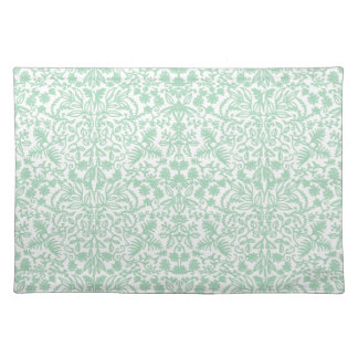 Sea Foam Green Medieval Leaves Placemats