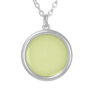 Sea Foam Green Silver Plated Necklace