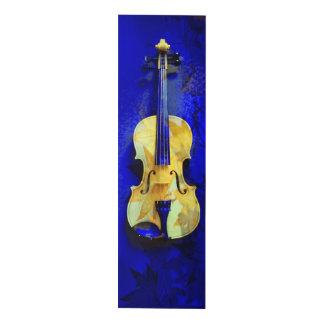 Sea Foam Green Violin Sapphire Blue Maple Leaves Panel Wall Art
