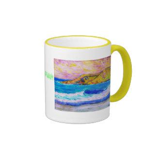 sea foam ringer coffee mug