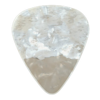 Sea foam, Ocean Waves Pearl Celluloid Guitar Pick