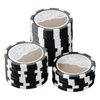 Sea foam, Ocean Waves Poker Chips