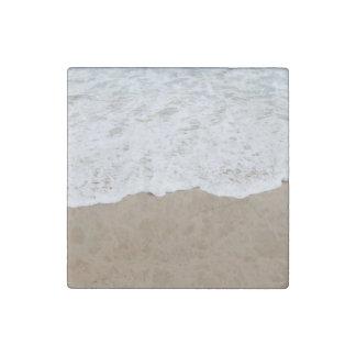 Sea foam, Ocean Waves Stone Magnet
