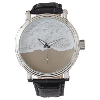 Sea foam, Ocean Waves Wrist Watch