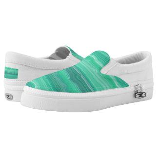 Sea Foam Printed Shoes