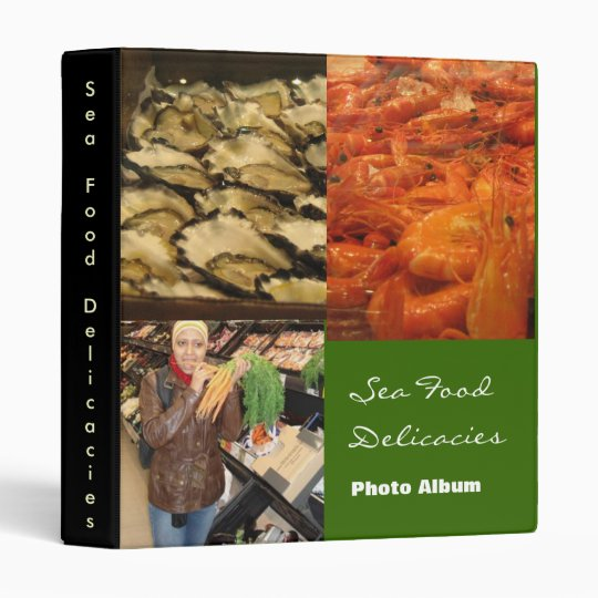 Sea Food Delicacies Binder