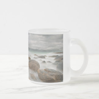 """Sea""  Frosted Glass Mug"