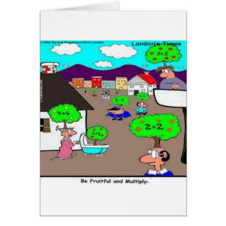 Sea fructuoso y multiplique divertido tarjeta de felicitación