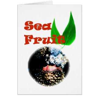 Sea fruit card