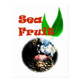 Sea fruit postcard