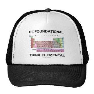 Sea fundacional piensan elemental (la tabla periód gorra