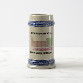 Sea fundamental saben su tabla periódica de los jarra de cerveza