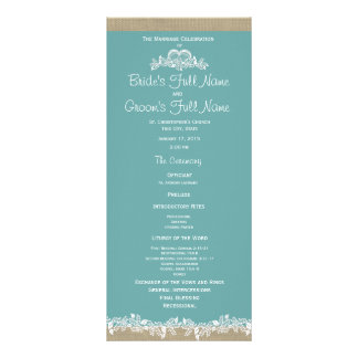 Sea Garland Aqua Wedding Program