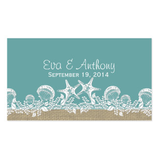 Sea Garland Beach Wedding Place Cards Double-Sided Standard Business Cards (Pack Of 100)