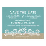 Sea Garland Teal Save the Date Announcement