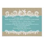 Sea Garland Teal Wedding Custom Invitations