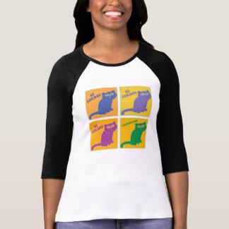 Sea gato curioso - color cuatro combinado - LuvFur Camiseta
