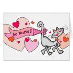 Sea gato del gatito de la tarjeta del día de San V