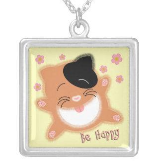 Sea gato feliz colgante cuadrado