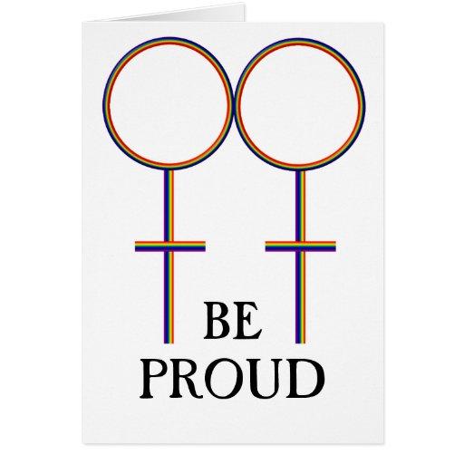 Sea gay orgulloso felicitaciones