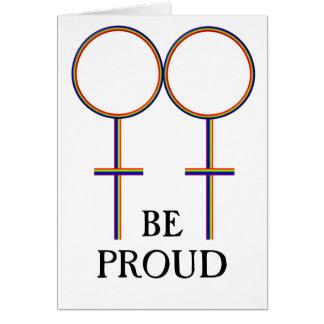 Sea gay orgulloso tarjeta de felicitación