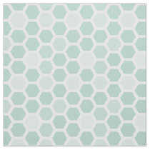 Sea Geometric Hexagon Pattern // Any Color Fabric