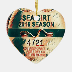 Sea Girt Beach Badge Ceramic Ornament