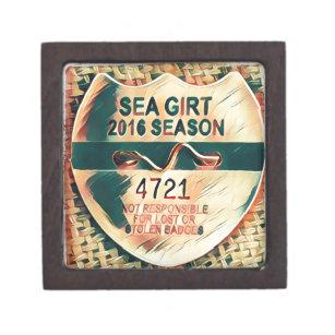Sea Girt Beach Badge Jewelry Box