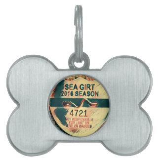 Sea Girt Beach Badge Pet ID Tag