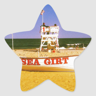 Sea Girt Lifeguard Boat Star Sticker