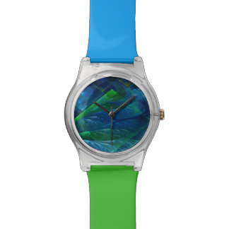Sea Glass 3D Abstract Wristwatch