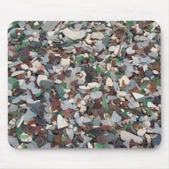 Sea Glass at Glass Beach - Bermuda Mouse Pad