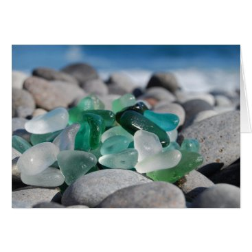 Beach Themed Sea glass at the beach card