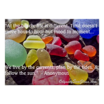 OdysseySeaGlass Sea Glass - At the Beach, Life is Different Poster
