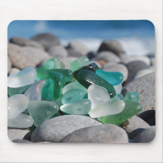 Sea glass at the beach mouse pad