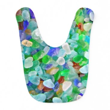 IslandImageGallery Sea Glass Baby Bib