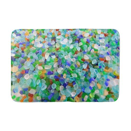 Sea Glass Bath Mat Zazzle